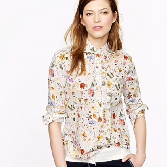 fd35ffc6fe785 J. Crew Tops - J. Crew Liberty London Popover In Floral Eve